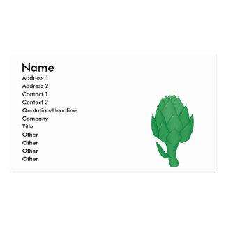 realistic artichoke business card