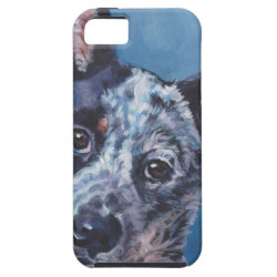 realistic australian cattle Dog Fine Art Painting iPhone SE/5/5s Case