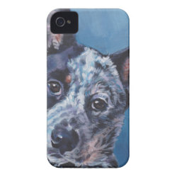 realistic australian cattle Dog Fine Art Painting iPhone 4 Case