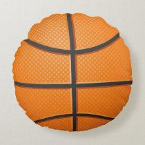 Realistic Basketball ball Pillow