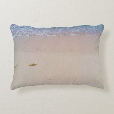 Realistic beach photo accent pillow