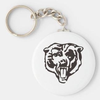 Realistic Bear Basic Round Button Keychain
