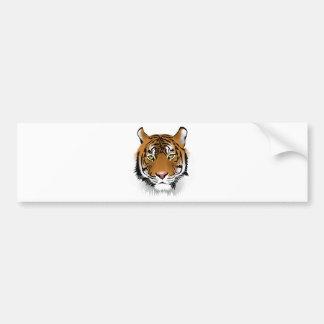 Realistic Bengal Tiger Face Bumper Sticker