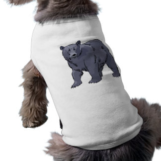 realistic black bear design pet shirt