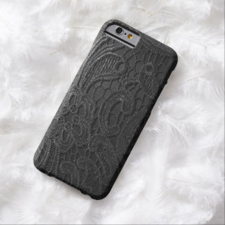 realistic black satin lace phone Case Barely There iPhone 6 Case