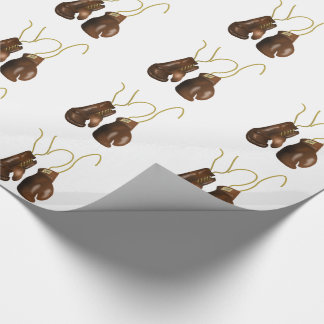 Realistic Boxing Gloves Wrapping Paper