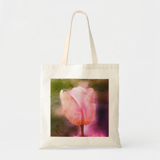 Realistic bright tulip Throw Pillow Tote Bag