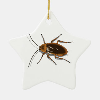 Realistic Brown Cockroach Insect Ceramic Ornament
