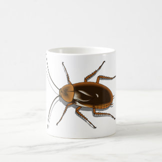 Realistic Brown Cockroach Insect Coffee Mug
