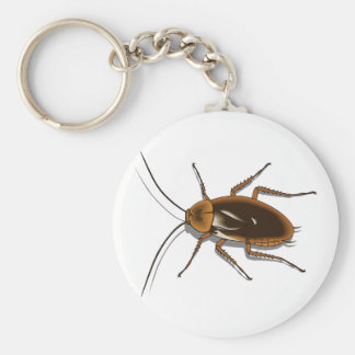 Realistic Brown Cockroach Insect Keychains