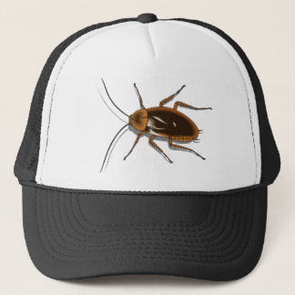 Realistic Brown Cockroach Insect Trucker Hat