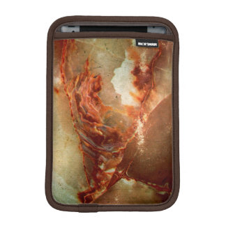 Realistic Brown Faux Marble Stone Pattern 2 Sleeve For iPad Mini