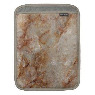 Realistic Brown Faux Marble Stone Pattern Sleeves For iPads