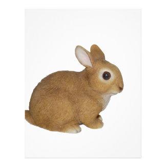 Realistic Bunny Rabbit Letterhead