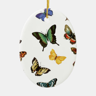 realistic butterflies ceramic ornament