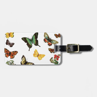 realistic butterflies luggage tag