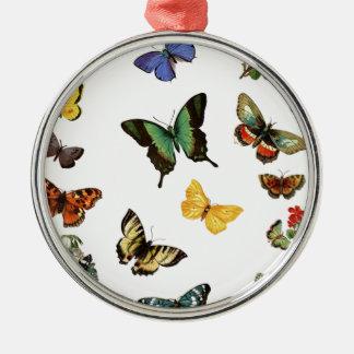 realistic butterflies metal ornament