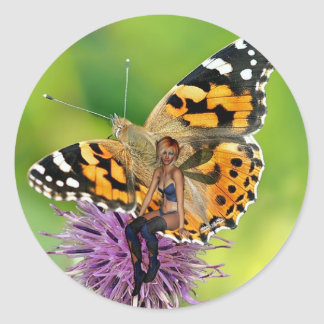 Realistic Butterfly, Flower and Fairy Sticker
