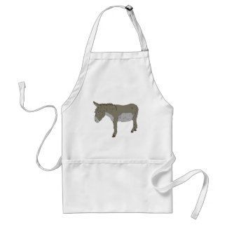 Realistic Cartoon Donkey Aprons