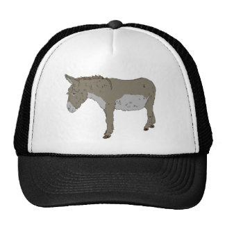 Realistic Cartoon Donkey Trucker Hat