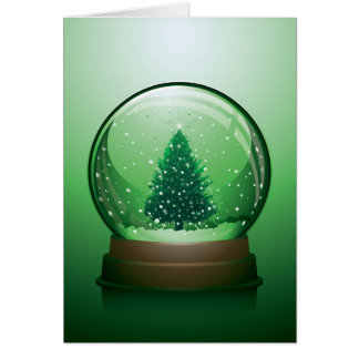Realistic Christmas Snow Globe Card