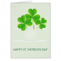 realistic clovers pocket St Patrick's day card