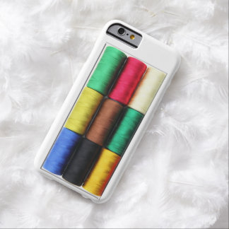 realistic colorful threads spool box phone Case Barely There iPhone 6 Case