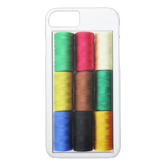 realistic colorful threads spool box phone Case