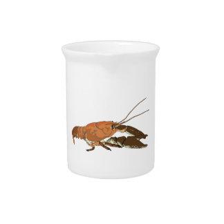 Realistic Crayfish/Crawdad Beverage Pitcher