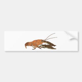Realistic Crayfish/Crawdad Bumper Sticker