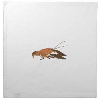 Realistic Crayfish/Crawdad Cloth Napkin