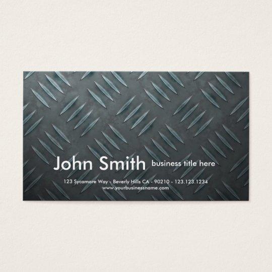 realistic diamondplate business card
