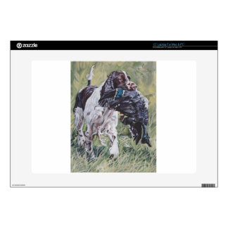 realistic English Springer Dog Fine Art Painting Laptop Decal
