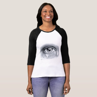 Realistic Eye,Black and white pencil art T-Shirt