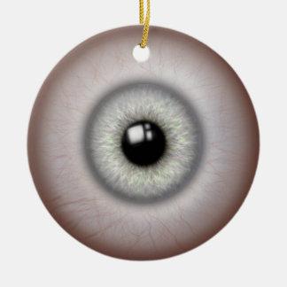 Realistic Eyeball Ceramic Round Ornament