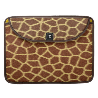 Realistic Faux Giraffe Print Animal Fur Pattern MacBook Pro Sleeve