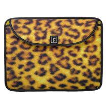 Realistic Faux Leopard Spots Animal Print Sleeve For MacBooks
