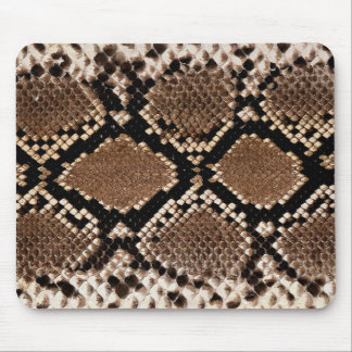 Realistic Faux Snake Skin Animal Print Mouse Pad