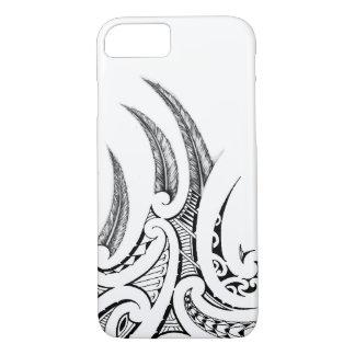 Realistic feathers in Maori wings tattoo design iPhone 8/7 Case