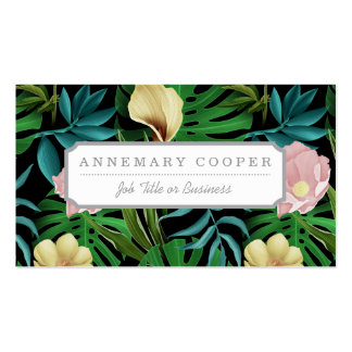 Realistic Flowers Pattern #1 Business Card