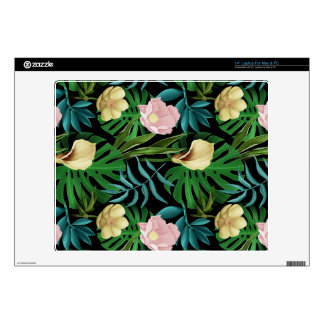Realistic Flowers Pattern #1 Decals For Laptops