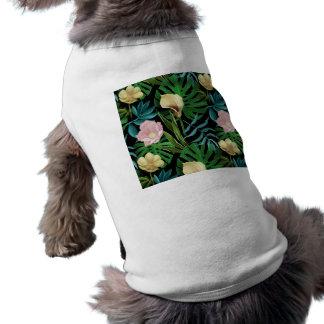 Realistic Flowers Pattern #1 Pet Tee Shirt