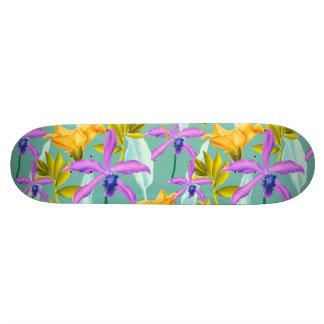 Realistic Flowers Pattern #3 Skateboard Deck