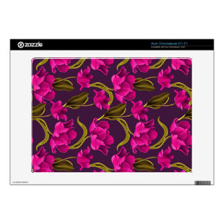 Realistic Flowers Pattern #4 Acer Chromebook Decal