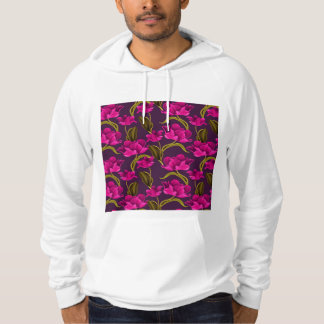 Realistic Flowers Pattern #4 Hooded Pullover
