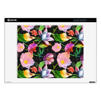 Realistic Flowers Pattern #5 Decal For Laptop