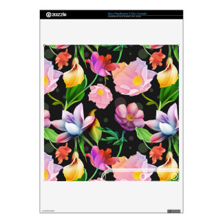 Realistic Flowers Pattern #5 Decals For The PS3 Slim