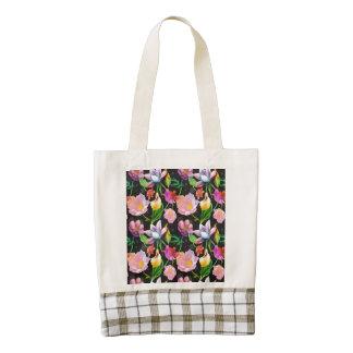 Realistic Flowers Pattern #5 Zazzle HEART Tote Bag