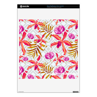 Realistic Flowers Pattern #6 PS3 Slim Console Skins