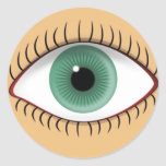 Realistic Funny Human Eye Classic Round Sticker